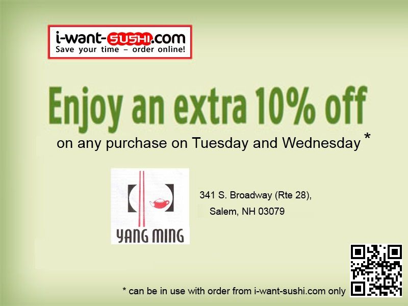 Yang Ming Restaurant - Discount Coupon